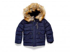 Chlapecká bunda / parka s kapucí a umělým kožíškem