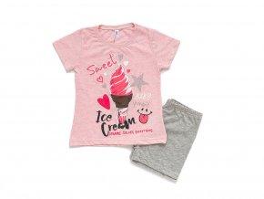 """Dívčí bavlněné pyžamo """"ICE CREAM"""""""