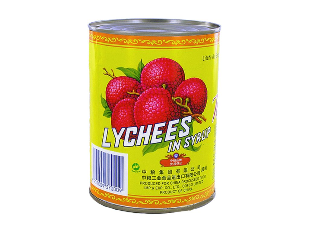 Lychees in syrup