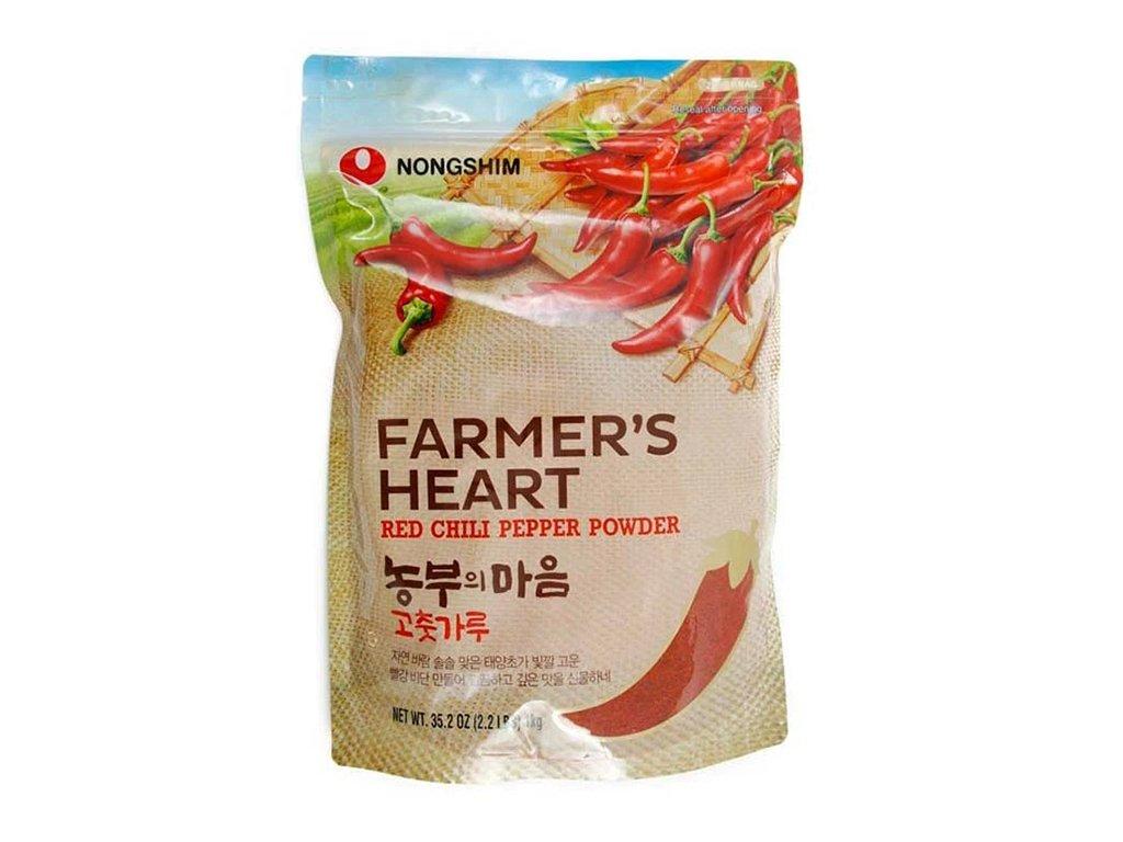 Farmers hearth red chilli pepper powdered