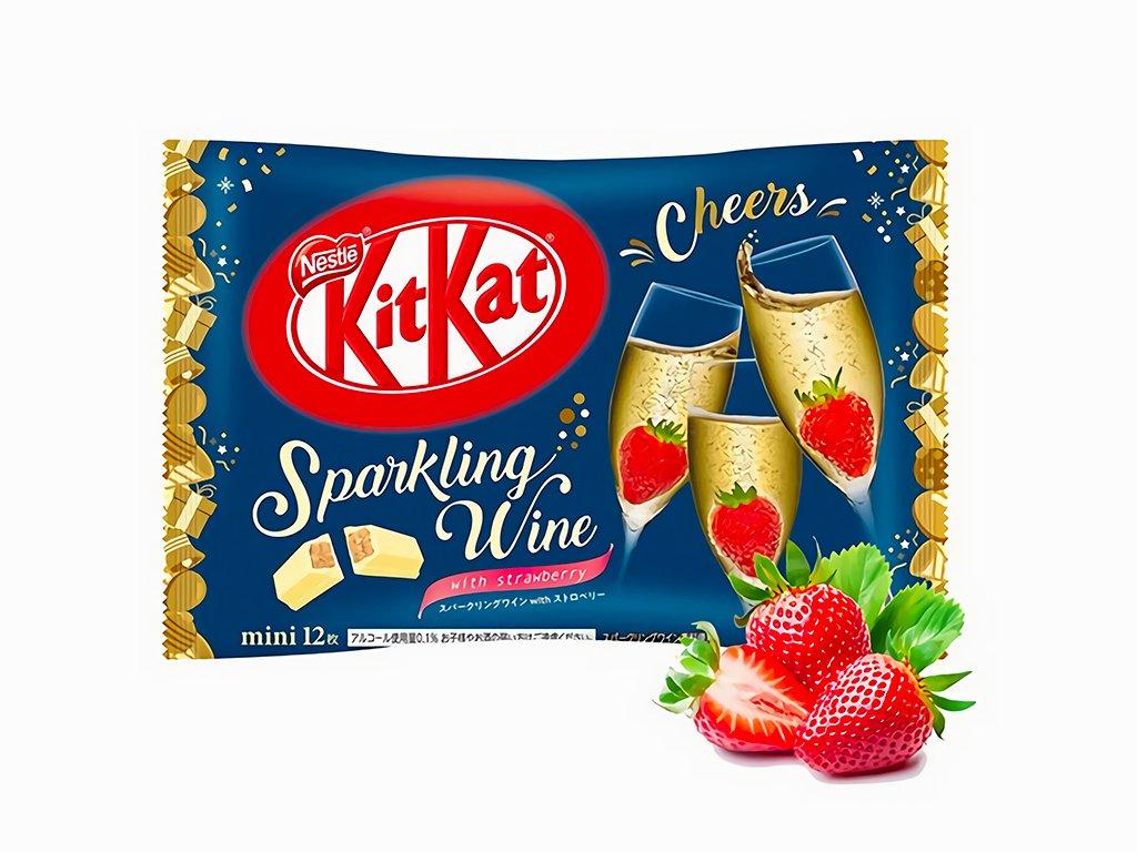 Kitkat sparkling wine