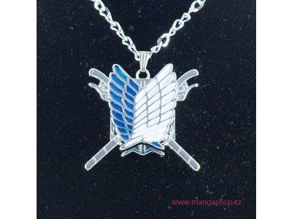Řetízek s přívěškem - znak průzkumné legie s pohyblivými meči