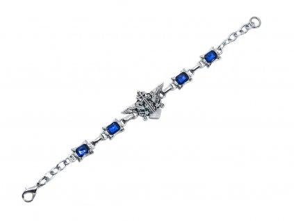 Stylový náramek erb rodu Phantomhive - modrý