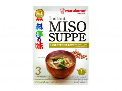 Miso supper gebratener tofu