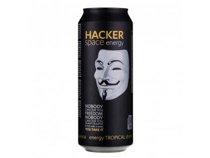 Hacker energetický nápoj - Tropical 500ml plech