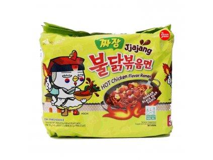 samyang noodles hot chicken 5x140g jjajang ramen 5 pack instant noodle