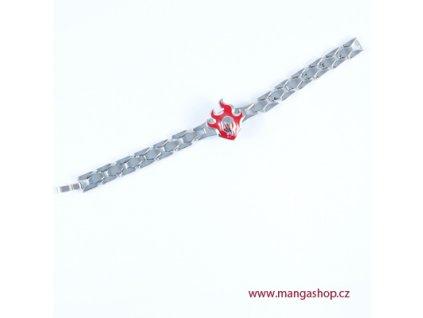 Kovový náramek znak shinigami