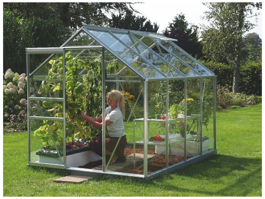 skleník VITAVIA VENUS 5000 čiré sklo 3 mm stříbrný