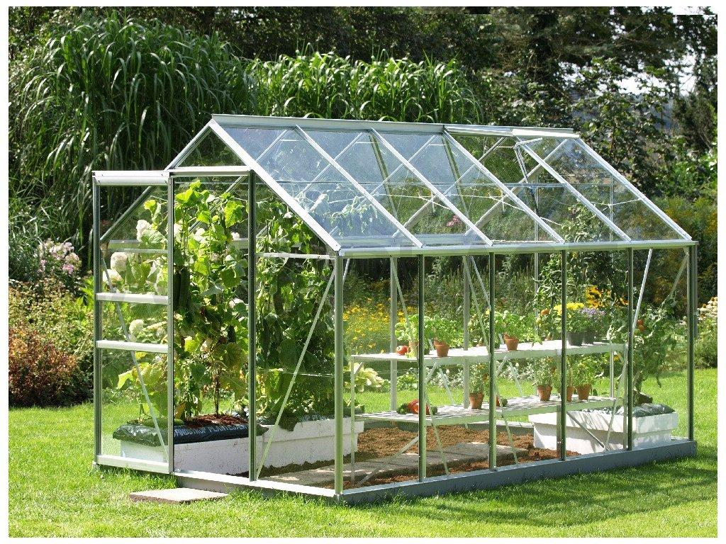skleník VITAVIA VENUS 6200 čiré sklo 3 mm stříbrný