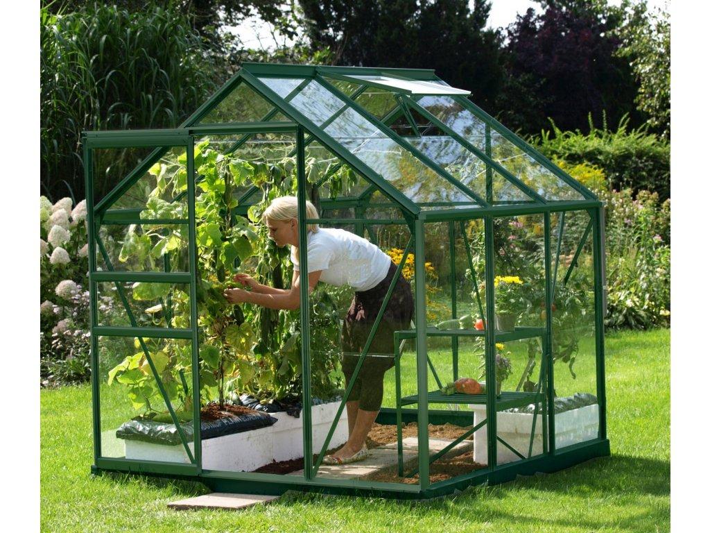 skleník VITAVIA VENUS 3800 čiré sklo 3 mm zelený