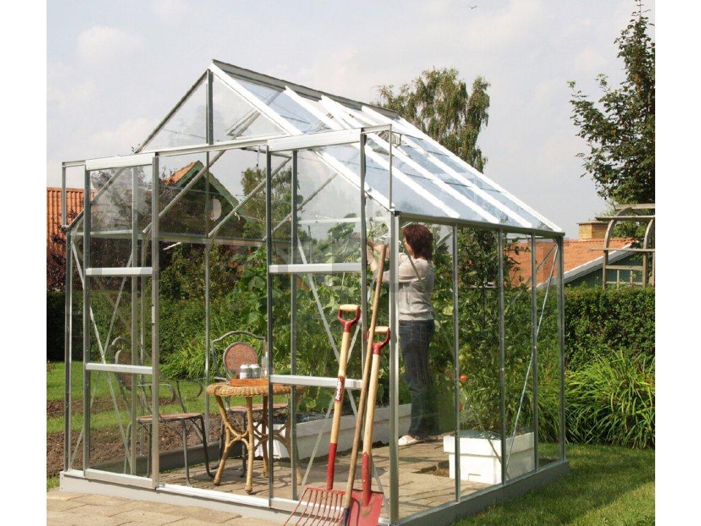 skleník VITAVIA URANUS 6700 čiré sklo 3 mm stříbrný