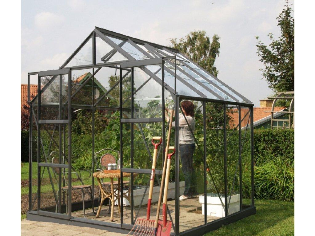 skleník VITAVIA URANUS 6700 čiré sklo 3 mm zelený