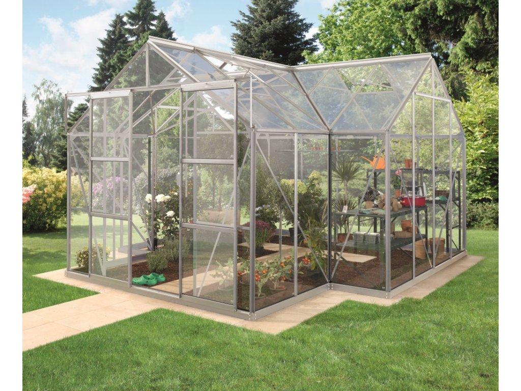skleník VITAVIA SIRIUS čiré sklo 3 mm stříbrný