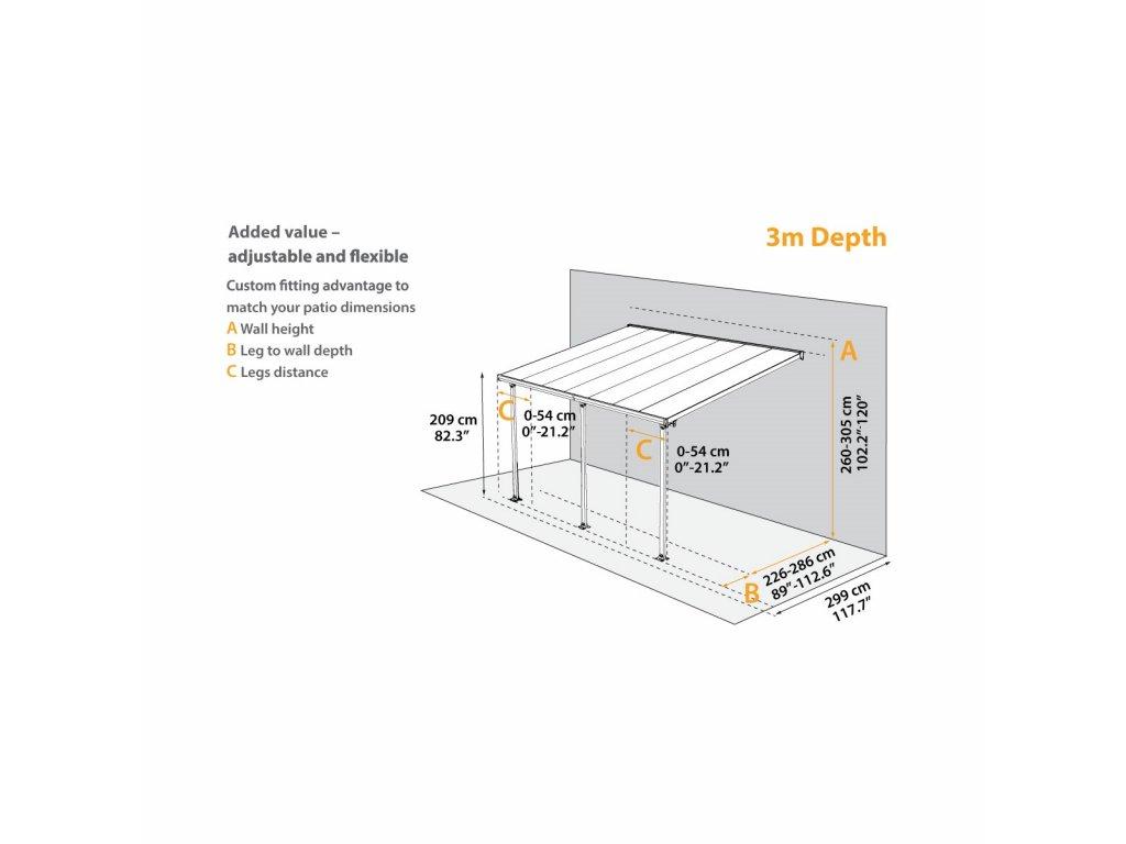 Palram Sierra 4200 antracit 3 x 4,25