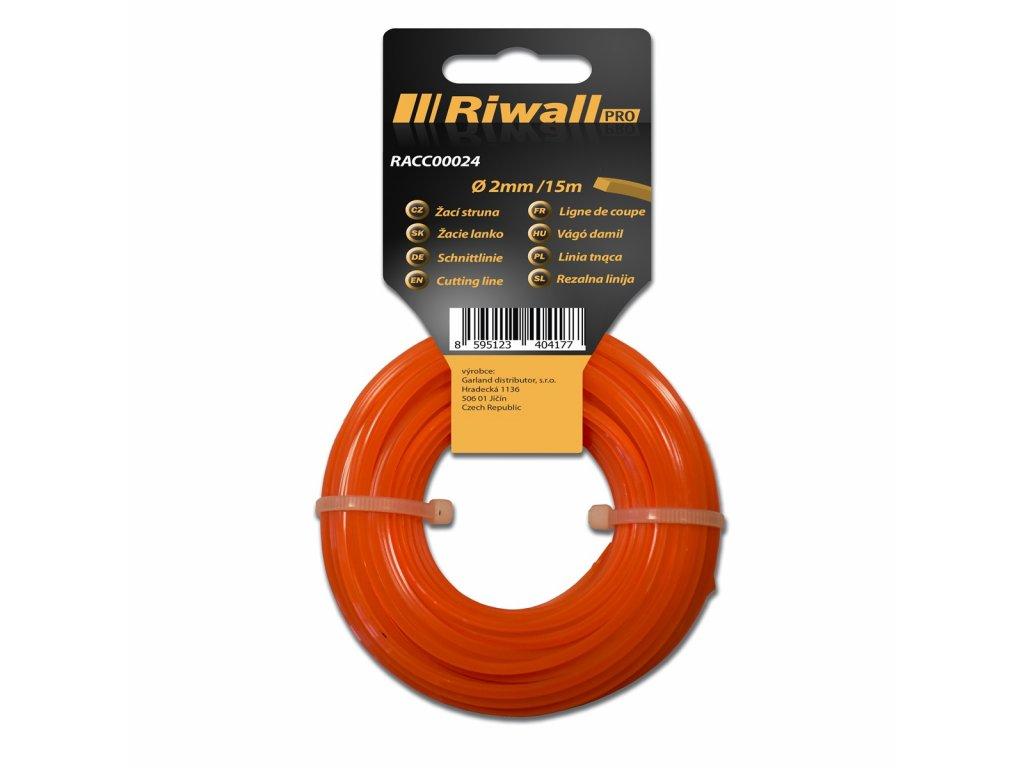 Riwall PRO Žací struna pr. 2mm, délka 15m, čtvercový průřez