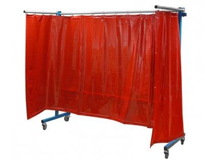 TransFlex ochranná zástěna, červená 3700 × 1950 mm