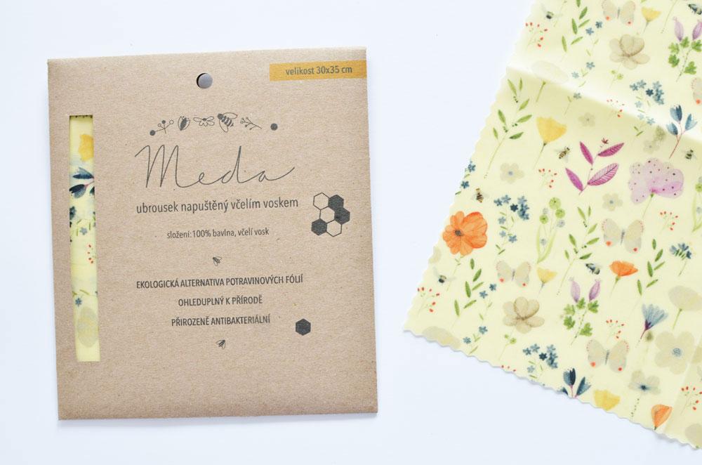 Meda - voskovaný obrousek od MANKAI Paper
