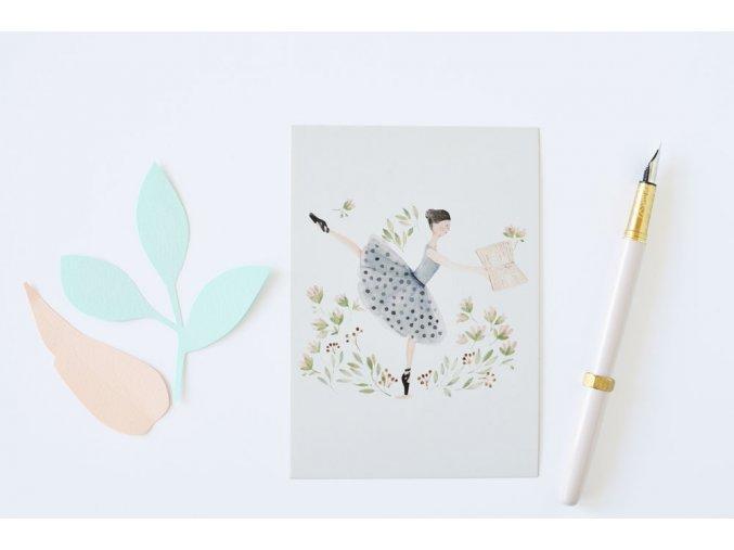 pohlednice baletka