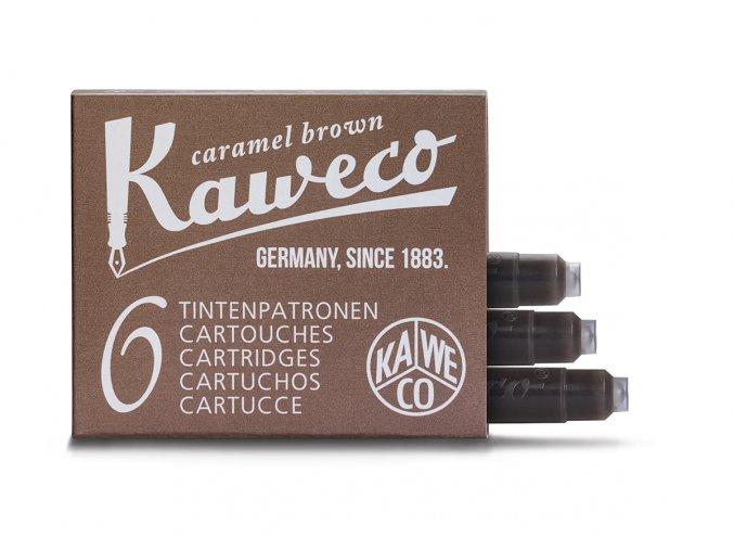 Kaweco zásobníky do pera, 6 ks - Caramel Brown