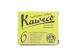 Kaweco zásobníky do pera, 6 ks - Glowing Yellow