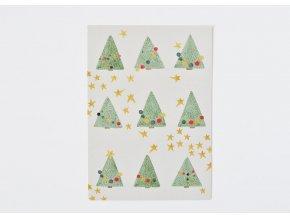 vanocni pohlednice stromky1