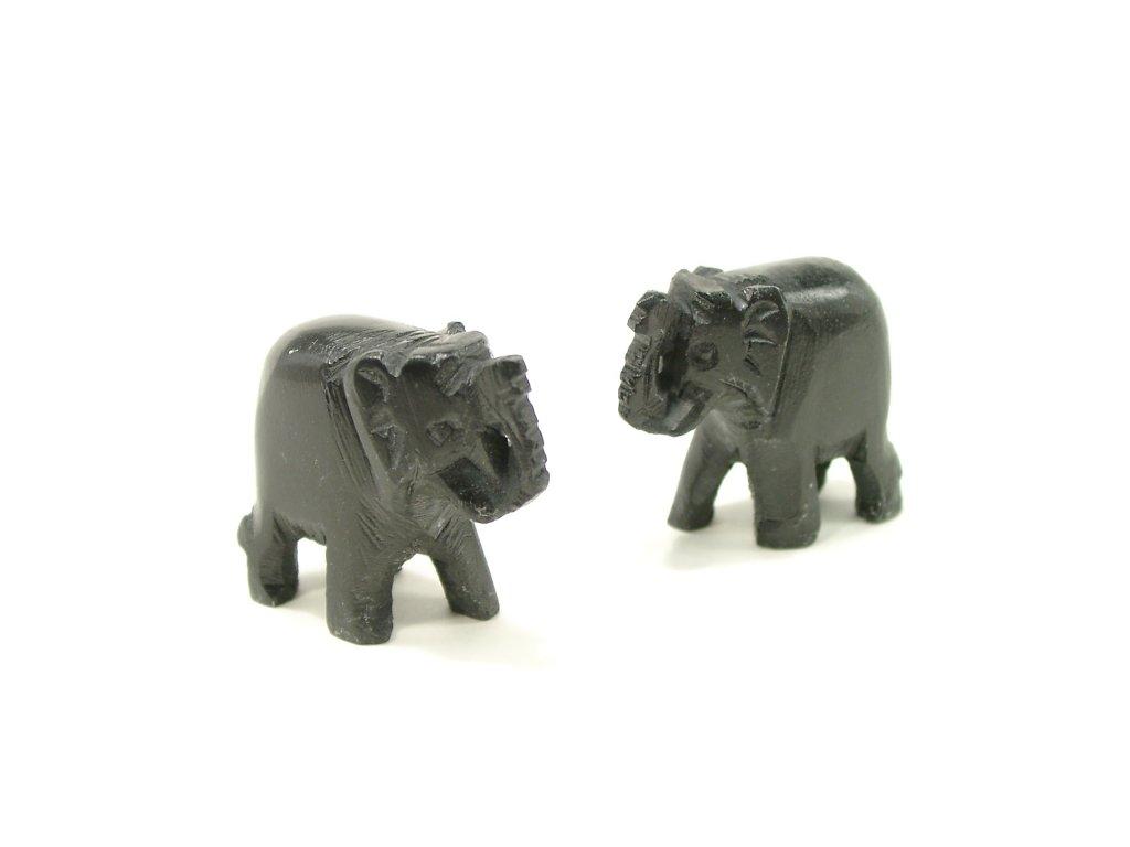 Slon kamenný černý