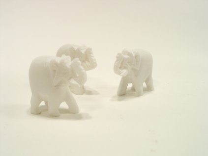 Slon kamenný bílý