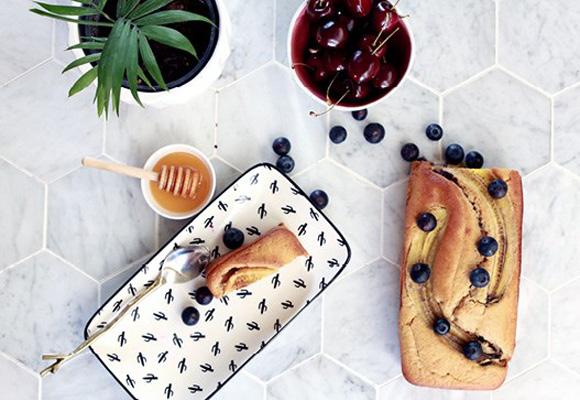 Zdravý Manuka-banánovo-čučoriedkový chlieb