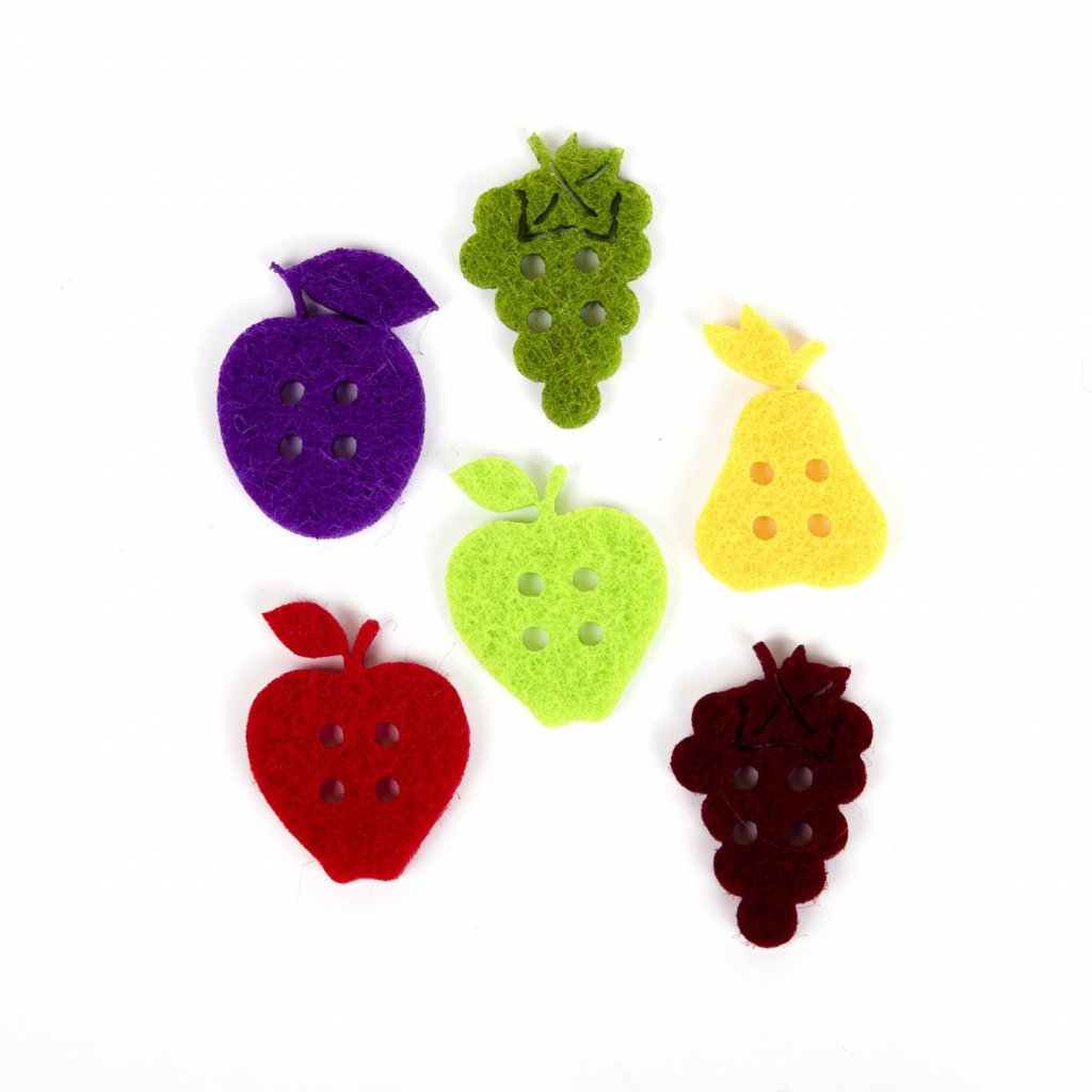 filcova ozdoba ovocie 14 ks priemer 2 5 cm