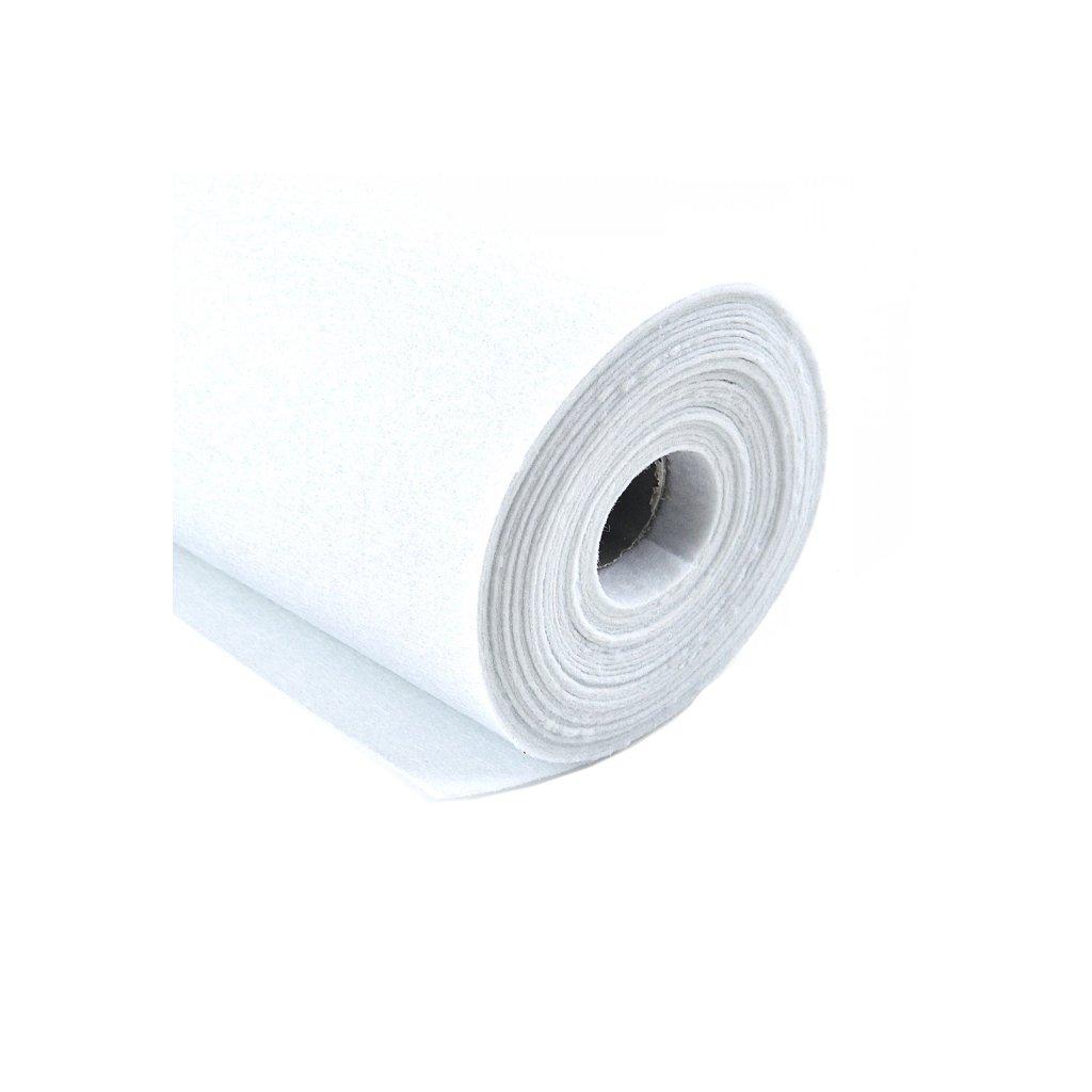 Filc bílý metráž š. 42 cm