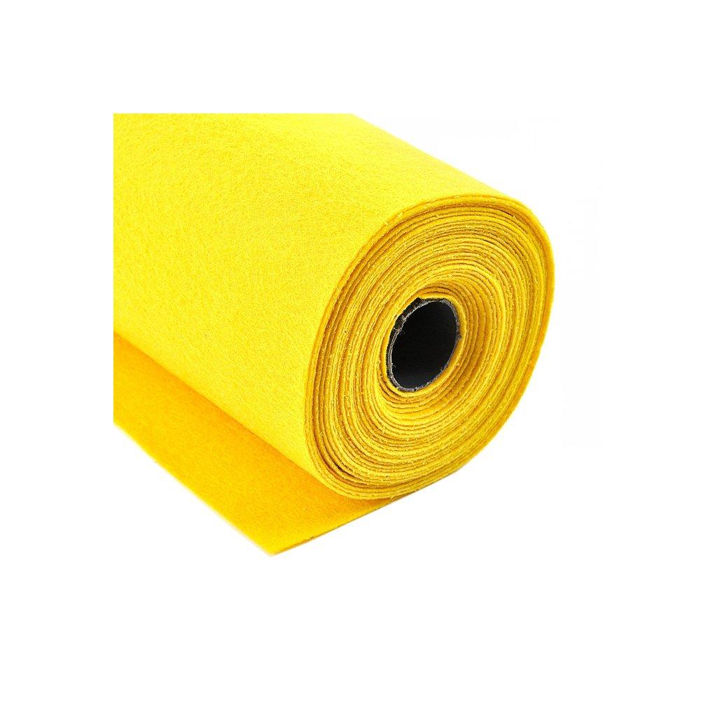 Filc žlutý metráž š. 42 cm