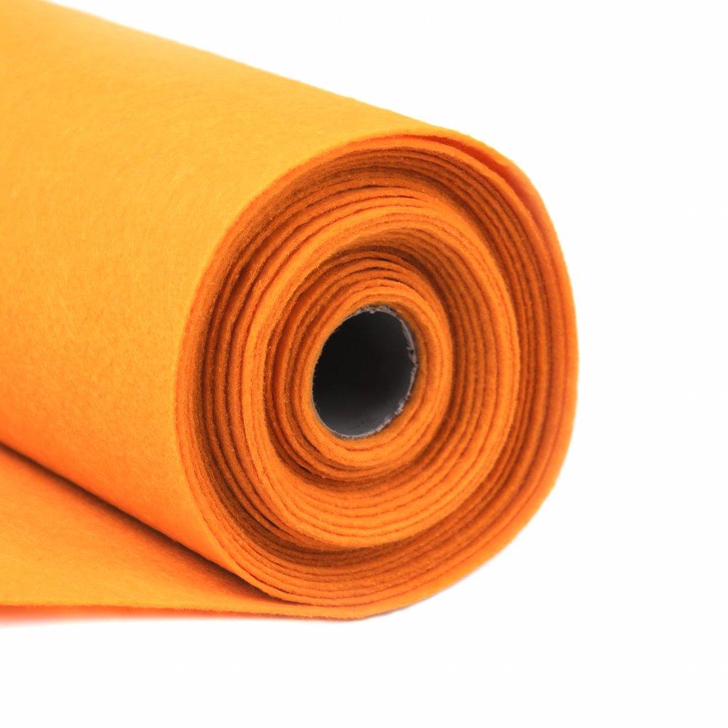 Filc světle oranžový metráž š. 42 cm