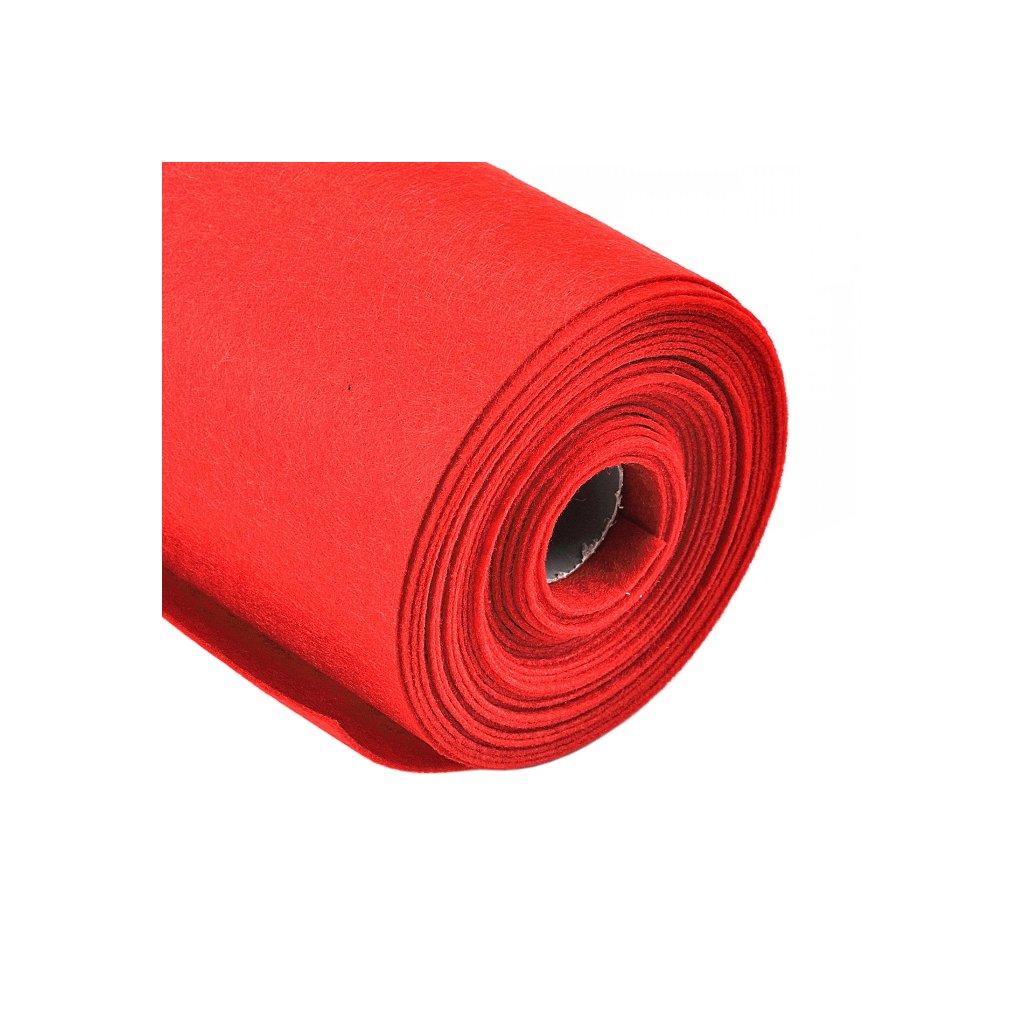 Filc červený metráž š. 42 cm