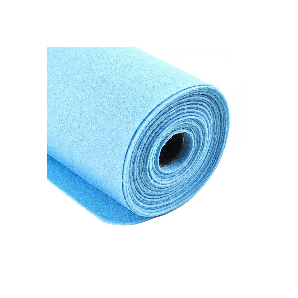 Filc nebesky modrý metráž š. 42 cm