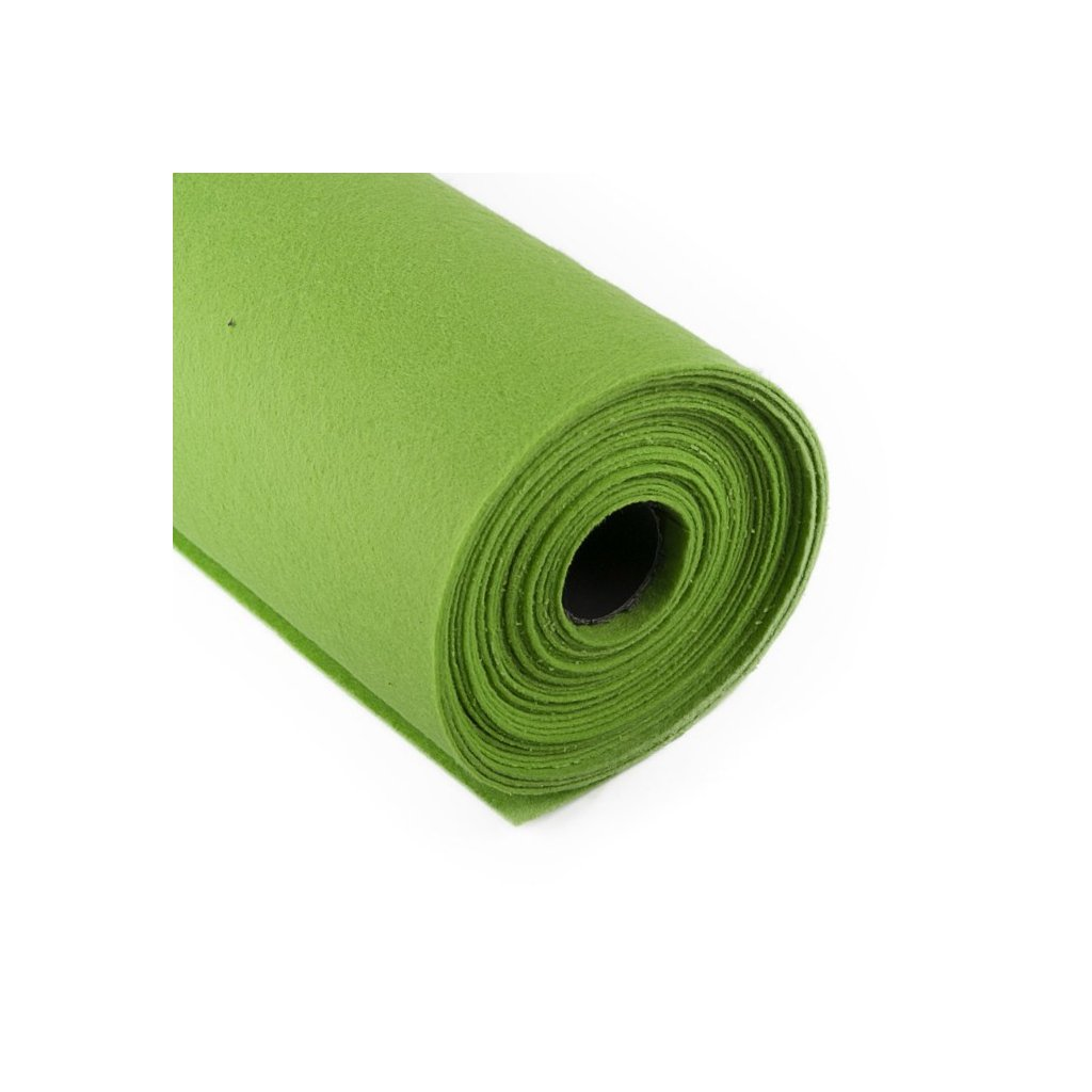 Filc světle zelený metráž š. 42 cm