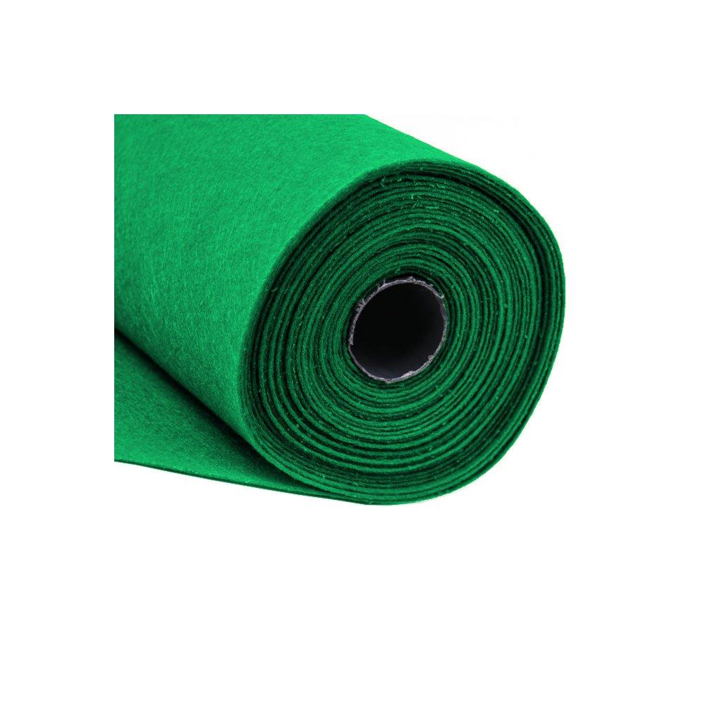 Filc hráškově zelený metráž š. 42 cm