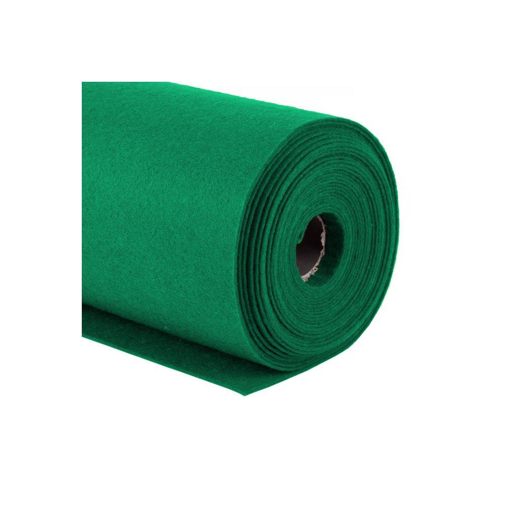 Filc tmavě zelený metráž š. 42 cm