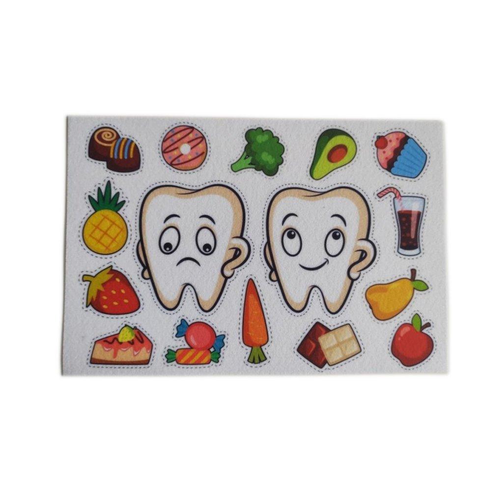 filc s potiskem zuby