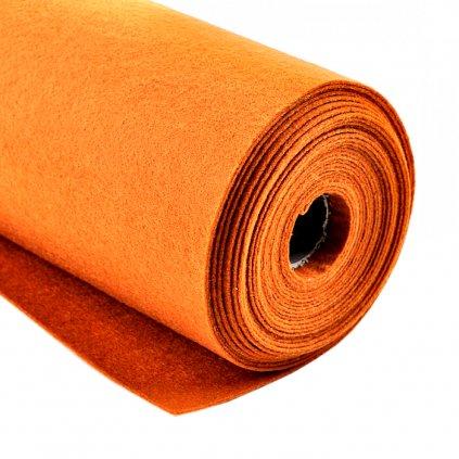 Filc oranžový metráž š. 42 cm
