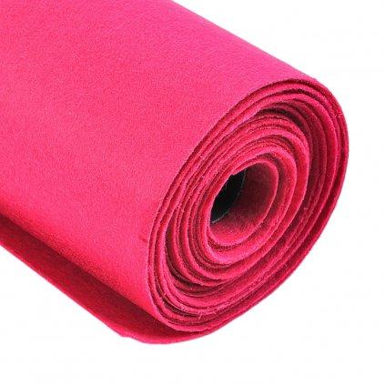 Filc tmavě růžový metráž š. 42 cm