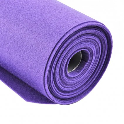 Filc tmavě fialový metráž š. 42 cm
