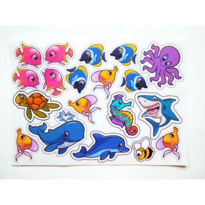 Podmořští živočichové - filcový panel