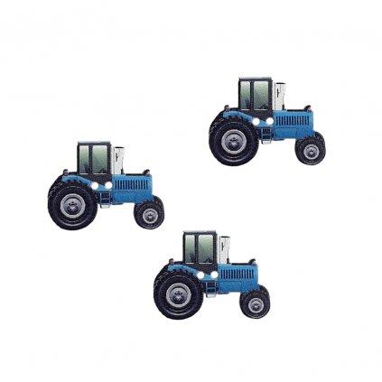 traktor modry
