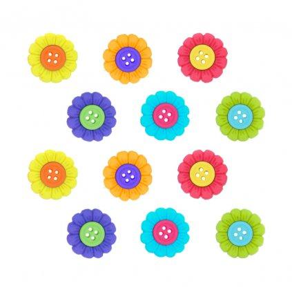 kyticky barevne s barevnym stredem ctyrdirkove