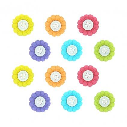 kyticky barevne s bilym stredem ctyrdirkove