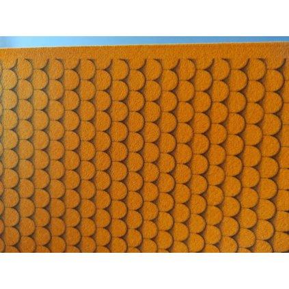 1219 filc s potiskem strecha oranzova
