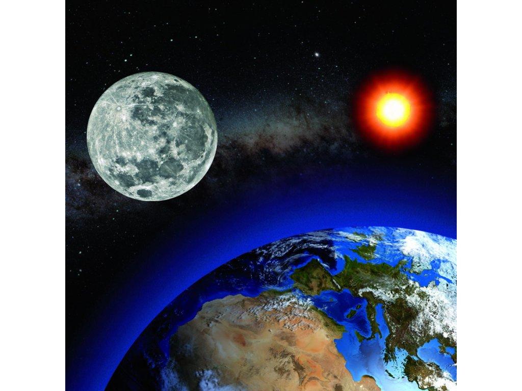 MCG67 MOON ABOVE EARTH