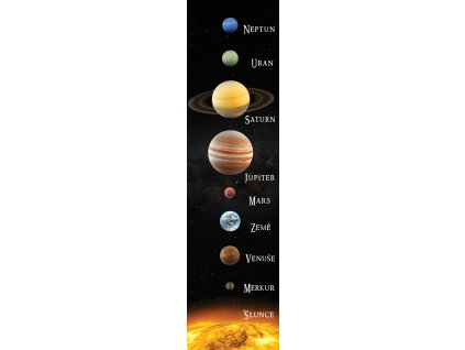 MCP15E SOLAR SYSTEM BOOKMARK CZECH