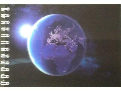 Earth Europe in night