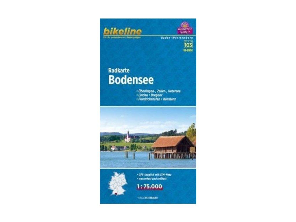 Bodensee / cyklomapa 1:75t Bikeline